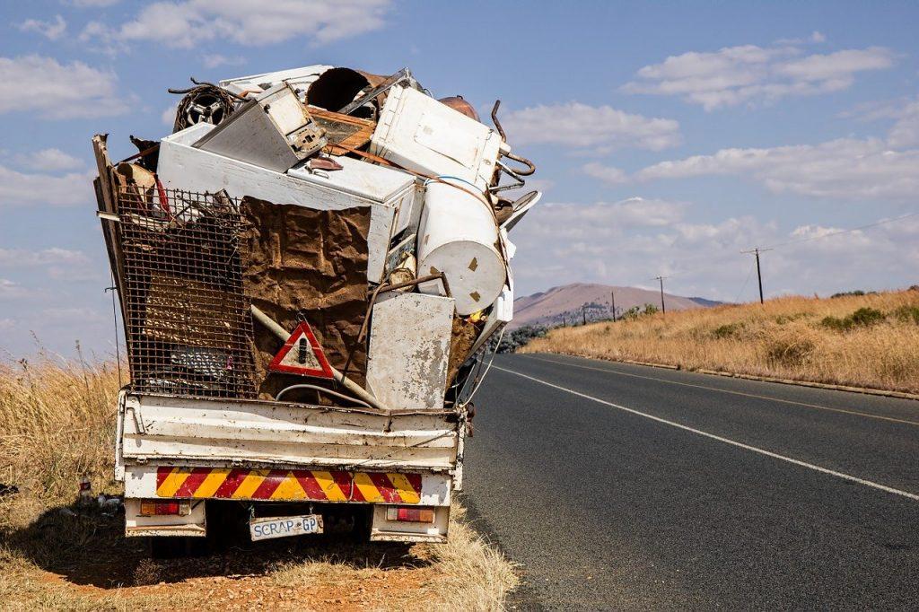 Scrap iron truck