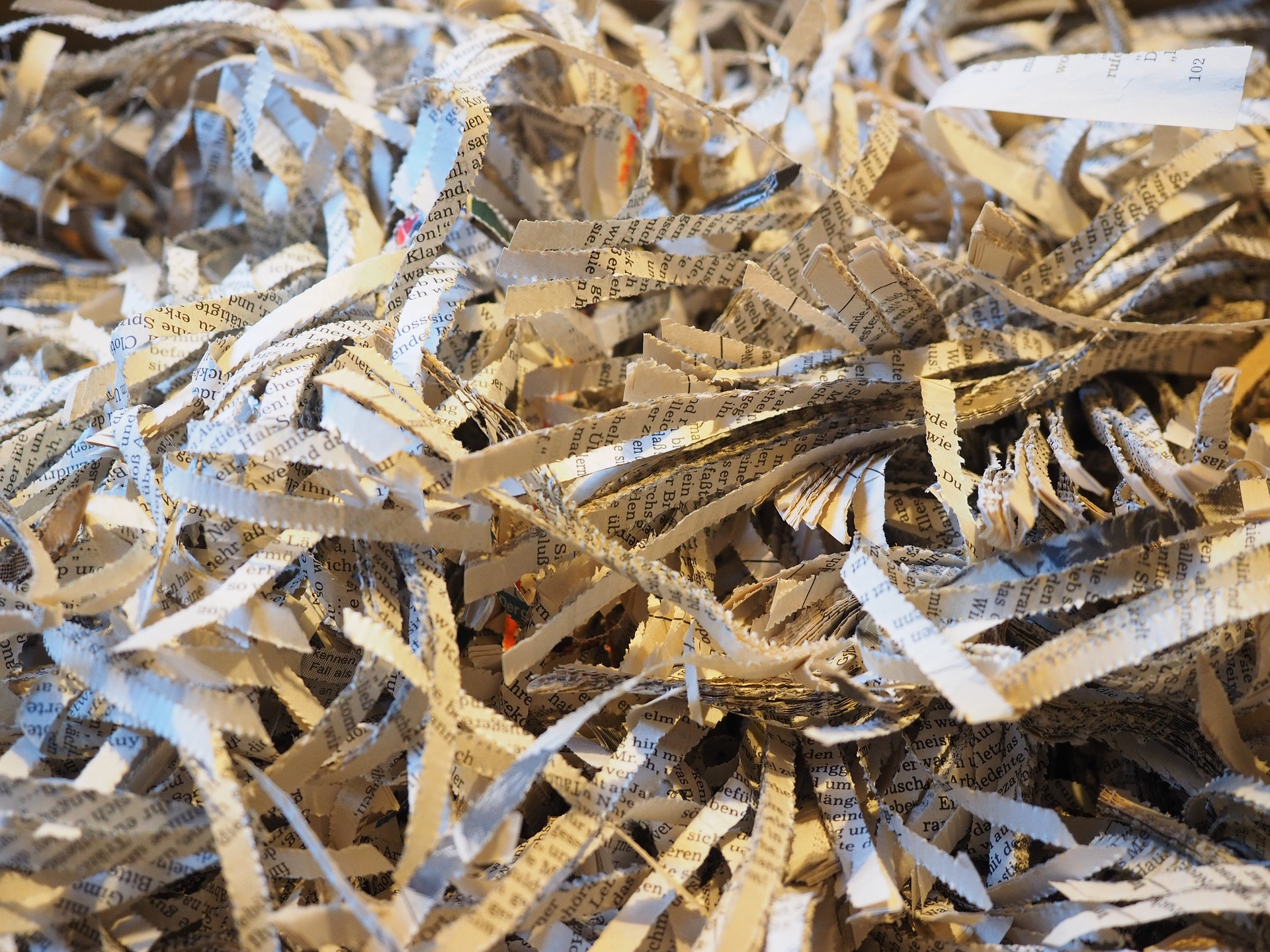 The Results of Shredding Paper Documents